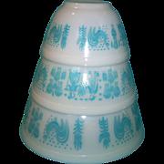 Pyrex Amish Butterprint Mixing /Nesting Bowls