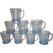 Fire King Blue Sapphire Philbe Coffee Mugs