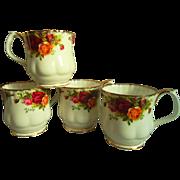 Royal Albert Old Country Roses Montrose Coffee Mugs