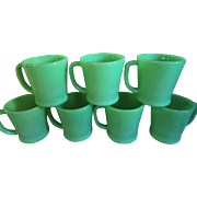 Fire King Jadite Coffee Mugs
