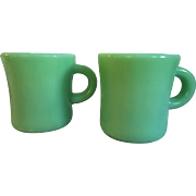 Fire King Jadite Coffee Mugs C Handle (Rare)
