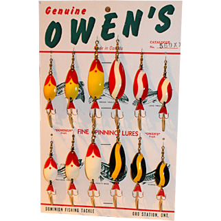 Owen's Fishing Lures Counter Top Display Card