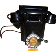 Bakelite Crank Type Wall Telephone