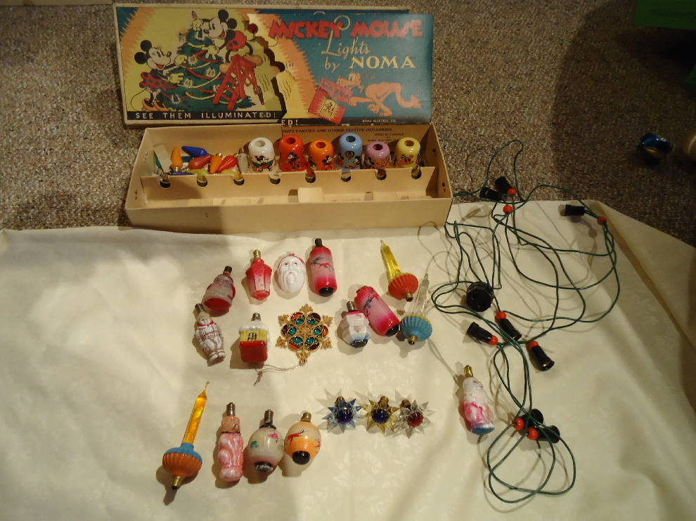 Disney Mickey Mouse Christmas Lights and More from sweetcandy on Ruby Lane