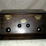 Crosley Radio ca. 1920's Wooden Cased Radio Model C.3 - Red Tag Sale Item