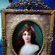 Hutschenreuther KPM Handpainted Porcelain Plaque Portrait
