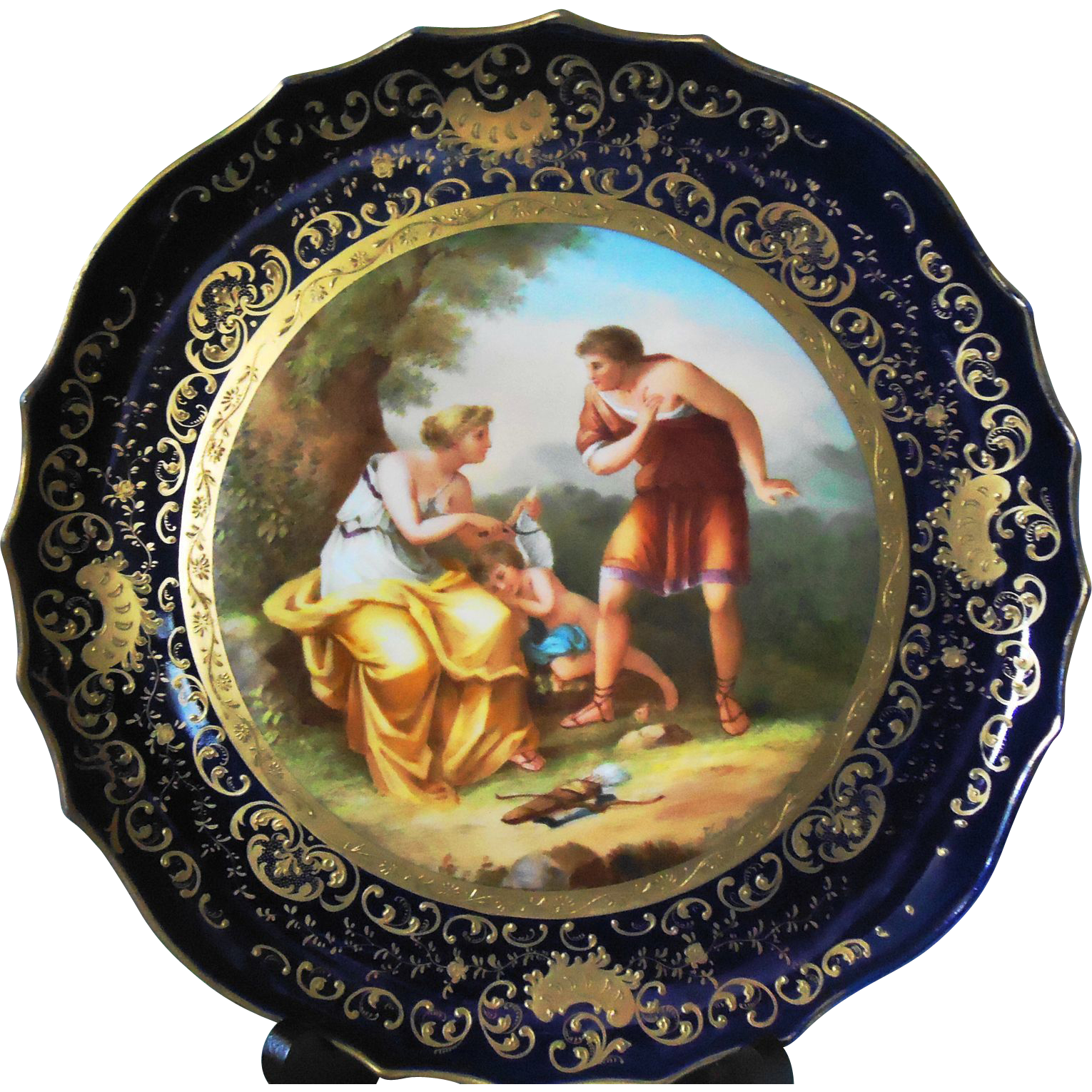 Angelica kauffmann decorative plate from sweetcandy on for Decoration plater