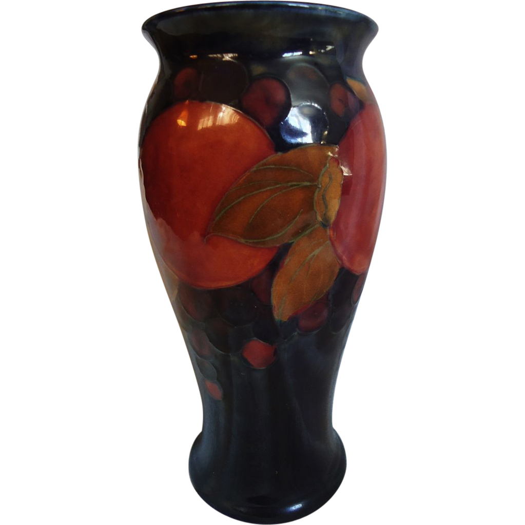 8 Moorcroft Pomegranate Vase From Sweetcandy On Ruby Lane