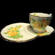 Royal Albert Yellow Tea Rose Tennis Set