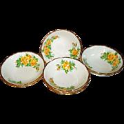 Royal Albert Yellow Tea Rose Cereal Bowls
