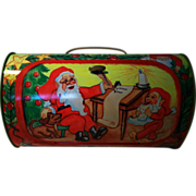 Santa Claus Christmas Candy Tin