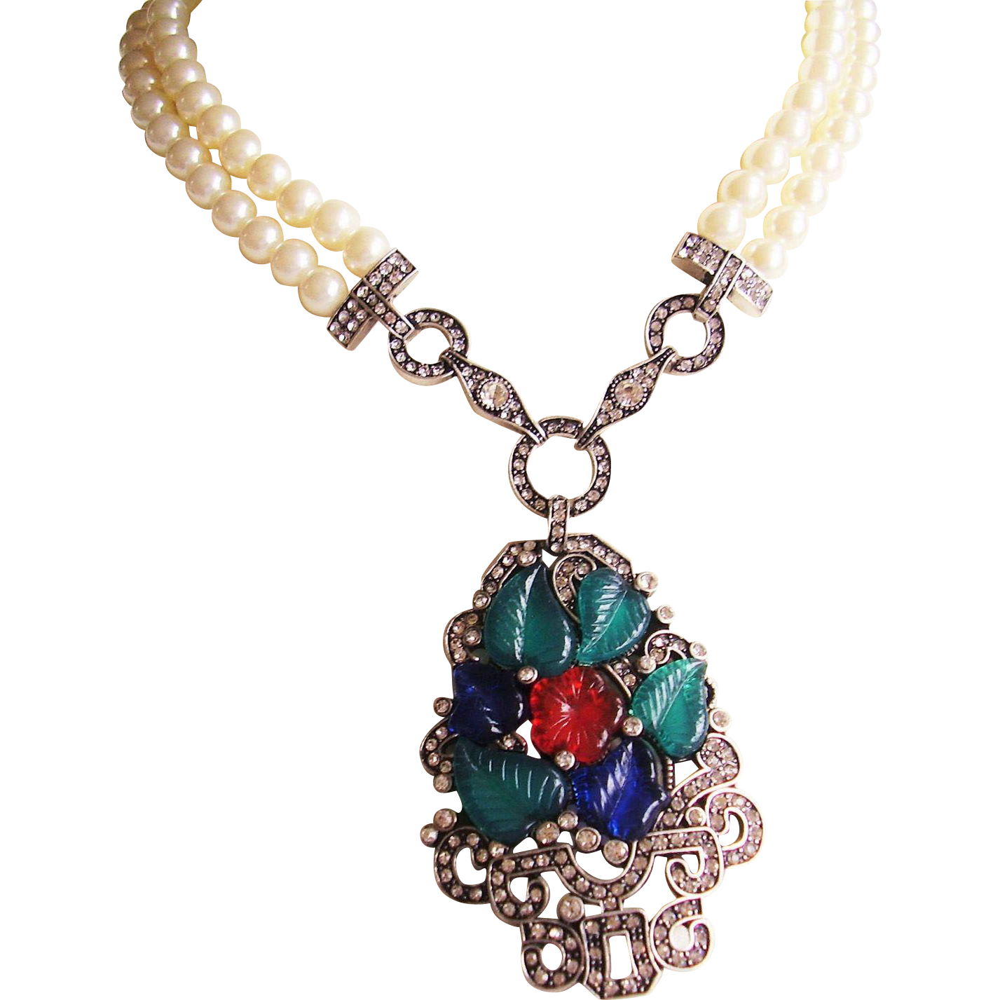 fruit jewelry fruit salad pendant faux pearl necklace inspired by 2664