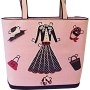 Lulu Guinness Pink Paper Doll Tote Handbag with Dust bag