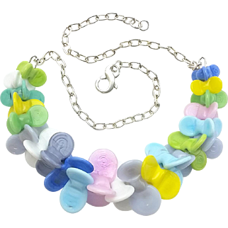 Sweet Little Whirligig Necklace with Our Own Glass Beads