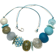 15% Off! Stunning Hollow Glass Bead Necklace Handmade in Our Artisan Workshop
