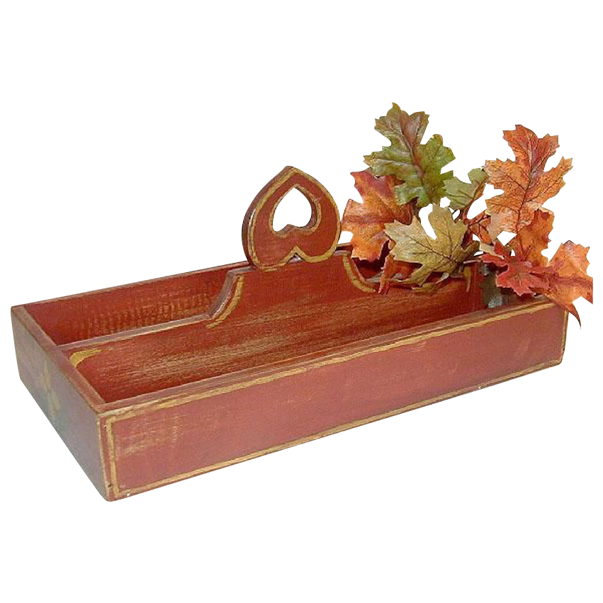 Artisan Knife Caddy, China Red Milk Paint