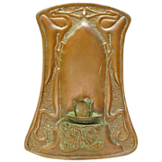 Hammered Sheet  Copper Art Nouveau Wall Sconce, Handicraft Guild of Minnesota