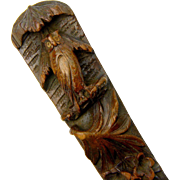 Black Forest Carved Spoon with Owl