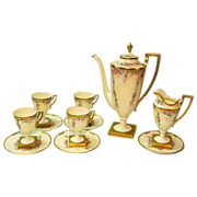 Hand Painted Lenox Belleek 11 Piece Coffee Set