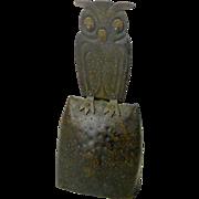 Goberg Owl Bell, Jugendstil,Hand Hammered in Germany, Ca. 1910