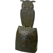 Goberg Owl Bell, Jugendstil,Hand Hammered in Germany, Ca. 1910