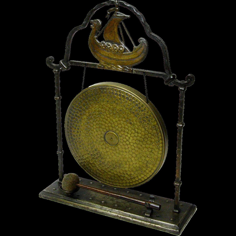 Goberg Viking Table Gong, Ca. 1900