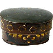 Swedish Kurbits Painted Svepask or Bent Wood Box, Ca. 1820