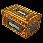 Marquetry Dresser Box, Love Token, Late 19th C.