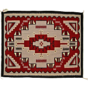 Navajo (Dineh) Weaving or Rug, Ganado Red Design