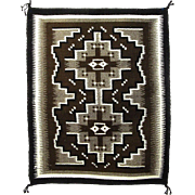 Navajo (Dineh) Two Grey Hills Weaving, Wall Hanging