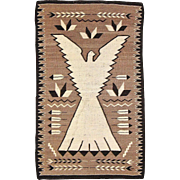 Pictorial Navajo Weaving Peyote Bird /Eagle, ca. 1930