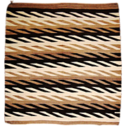 Regional Corn Stalk Design Navajo Weaving