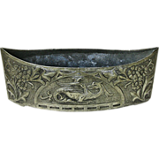 French Art Nouveau Style Repousse Pewter Planter, Ca. 1900