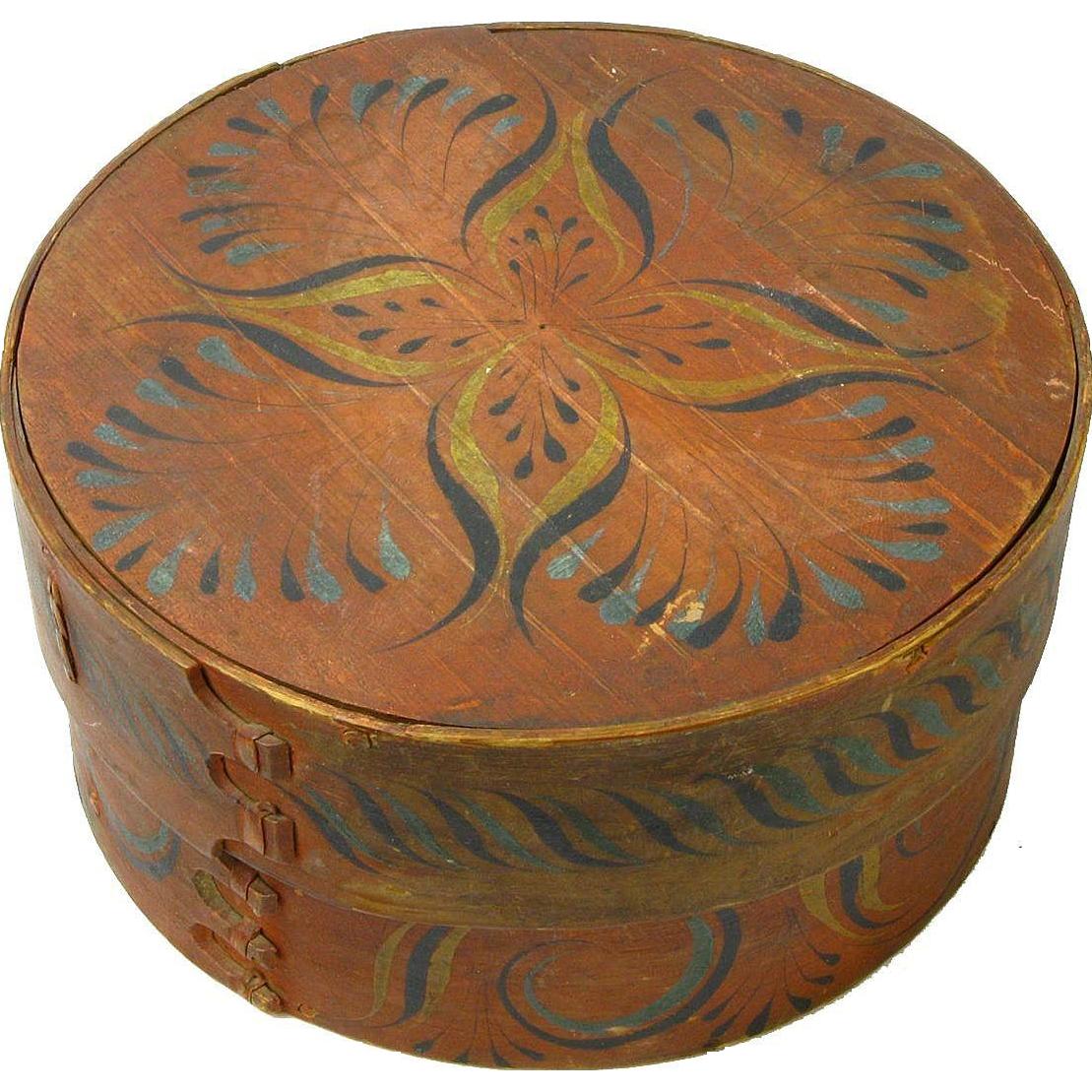 Norwegian Viksdal Painted Large Pantry Box, Ca. 1880