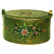 Large Paint Decorated Norwegian Tina, Third Quarter 19th Century