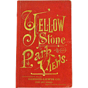 Yellowstone National Park View Book, Gordon-Lewis Co, Butte, MT, Ca 1880.