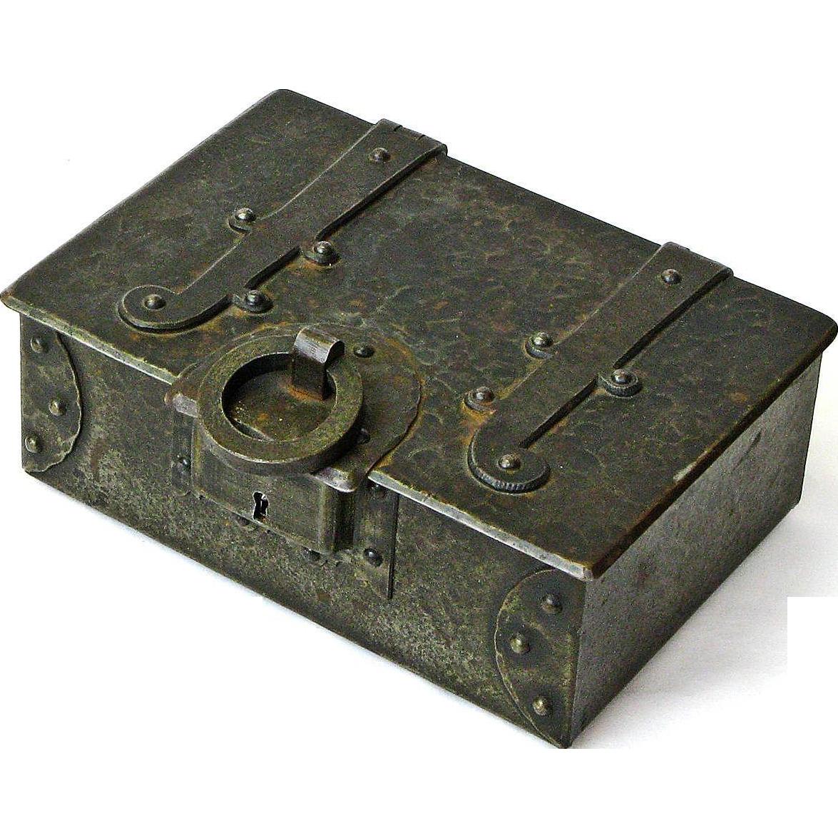 Make An Offer Goberg Signed Iron Desk Box Humidor