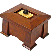 Mission Style Quartersawn Cherry Dresser Jewelry Box with Birds-eye / Ebony Lid