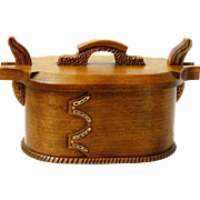 Norwegian Style Tine, Artisan Crafted Antiqued Quartersawn Cherry Bent Wood Box