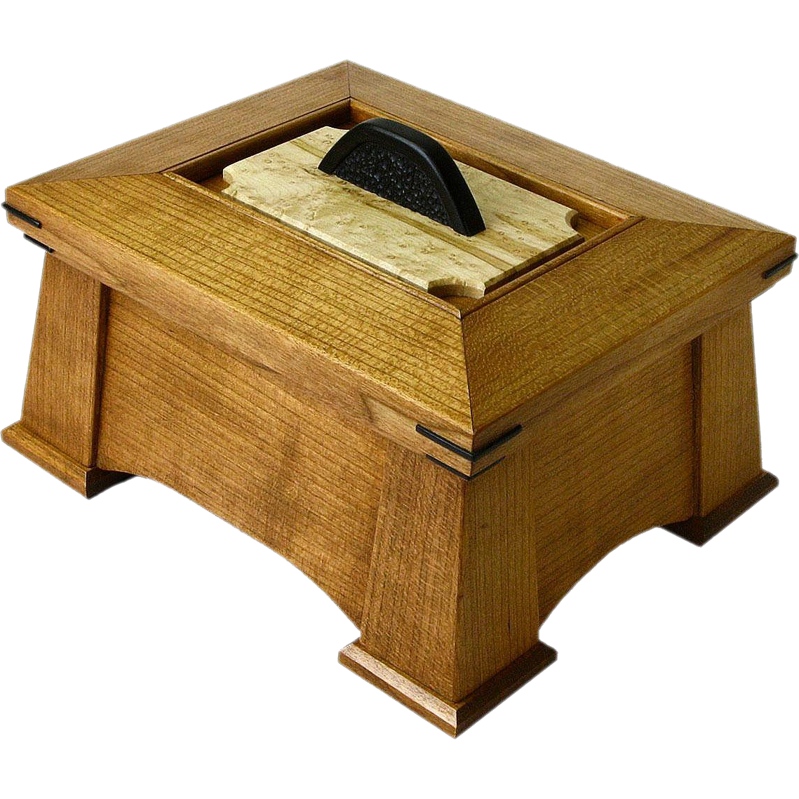 Great Holiday Gift! Mission Style Quartersawn Black Cherry Jewelry Dresser Box, Artisan Crafted