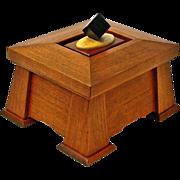 Mission Style Quartersawn Cherry Dresser Jewelry Box with Birds-eye / Ebony Lid