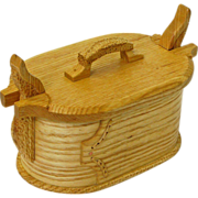 Carved Ash Tine Bentwood Box, Norwegian Style, Artisan Crafted at Sweetpea Cottage