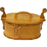 Norwegian Style White Oak Tine Bentwood Box with Bronze Accents, Artisan Crafted at Sweetpea Cottage
