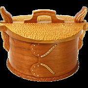 Norwegian Round Tine/Bent Cherry Wood Box, Artisan Crafted at Sweetpea Cottage
