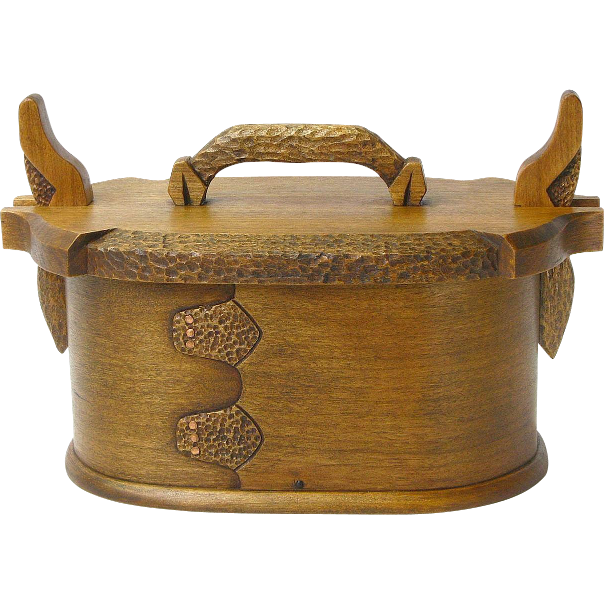 Norwegian Style Cherry Bent Wood Tine, Desk Box