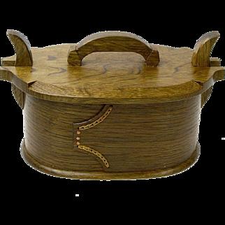 Norwegian Style Fumed Quartersawn White Oak Bentwood Box,  Artisan Crafted