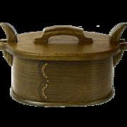 Fumed Quartersawn White Oak Norwegian Style Bentwood Box,  Artisan Crafted