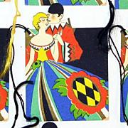 Decorative Art Deco Auction Bridge Score Cards & Tallies in Box, Ca. 1920's