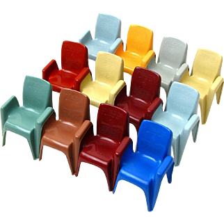 Set of 12 Miniature Sebel Integra Mark 2 Chairs, Australia, Ca 1980