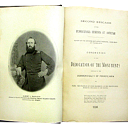 "Book ""Second Brigade of Pennsylvania Reserves at Antietam"", Comp. Alex. F. Nicholas, 1908"